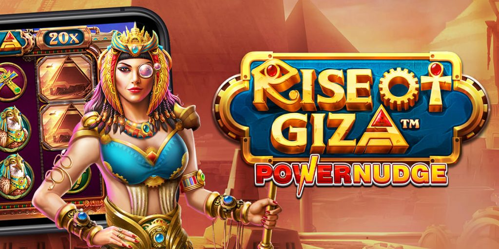 แนะนำเกมสล็อตRise of Giza Powernudge เกมโครตปัง